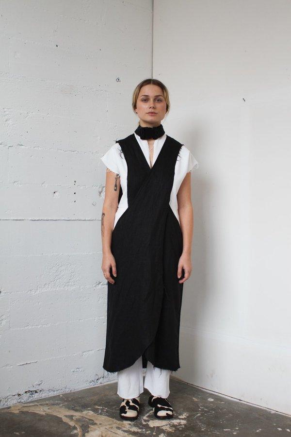 Alexa Stark linen crisscross dress