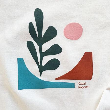 Coast Modern Baja Crew Sweatshirt - White