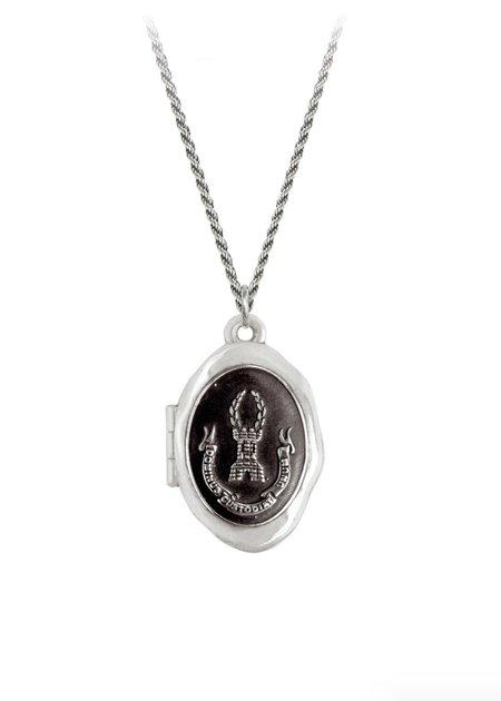 Pyrrha Blessing Locket Necklace - Silver