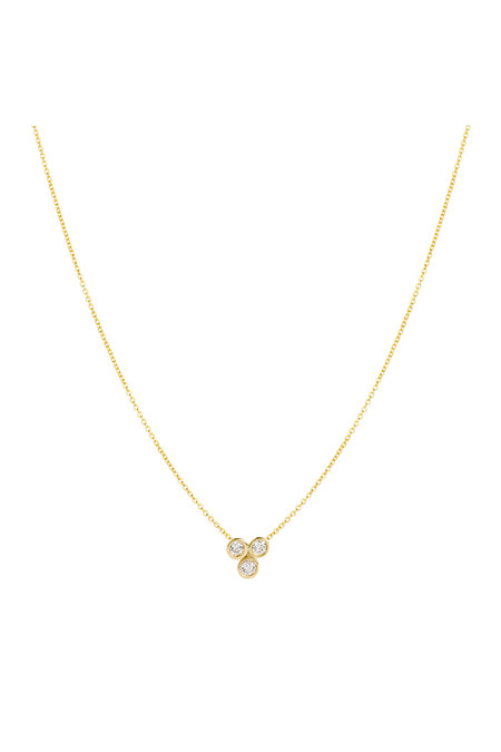 Hortense Clover Necklace - Yellow Gold