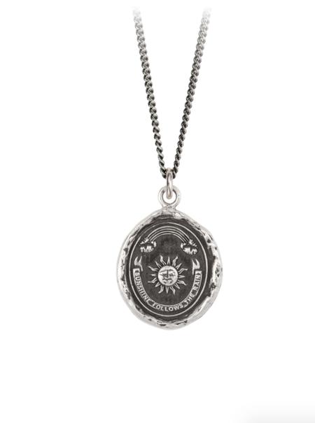 Pyrrha Rainbow Talisman necklace - Silver
