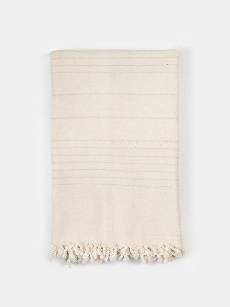 Erica Tanov cotton fringe throw - natural