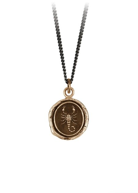 Pyrrha Scorpion Talisman necklace - Bronze