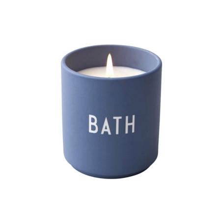 Design Letters Bath Candle Cup - Blue