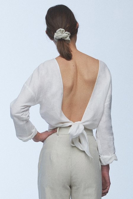 baaby Reversible Wrap Top - white