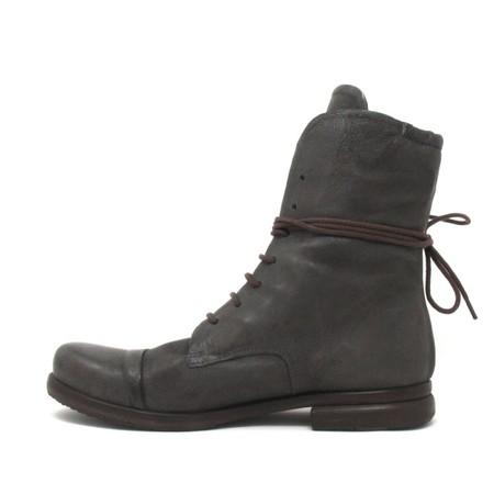 P.Monjo lace-up boots - asphalt