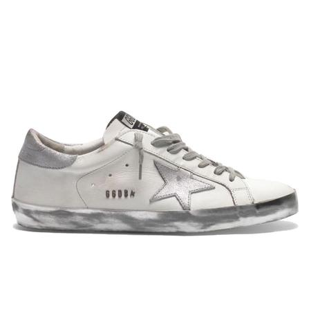 Golden Goose Superstar Leather Upper Laminated Star Metal Lettering sneakers - White/Silver