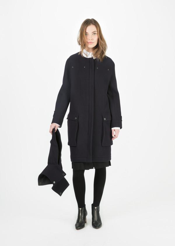 Hache Hooded Wool Coat