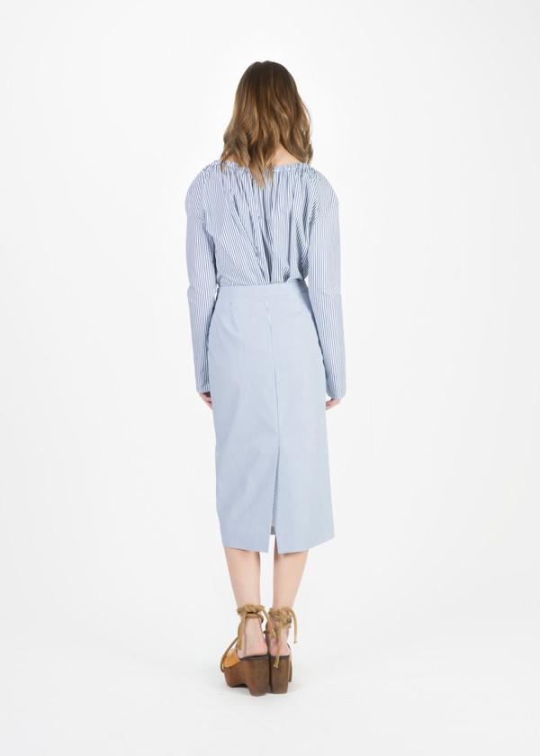 Organic by John Patrick Narrow Stripe Pencil Skirt