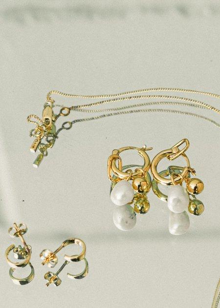 Flash Jewelry Vacation Charm Hoops - 14k Vermeil