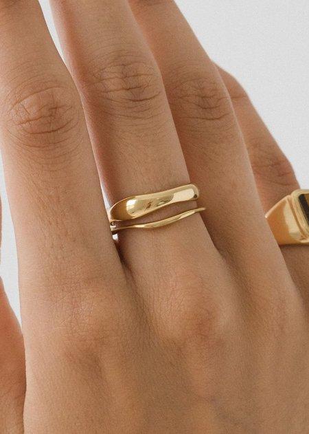 Flash Jewelry Waves Ring Set - 14k Vermeil