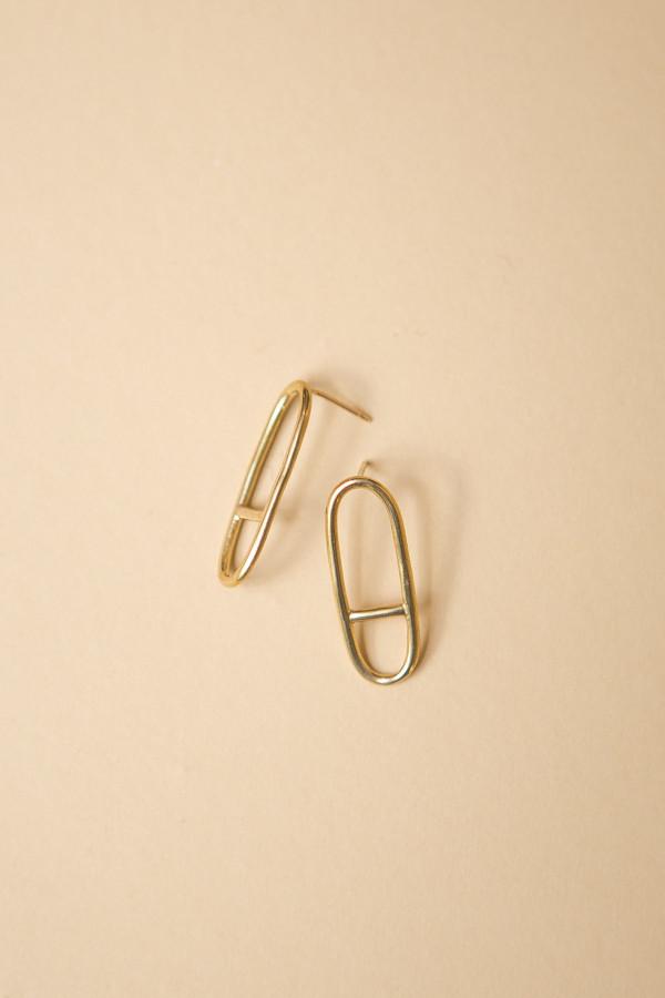 Seaworthy Horizon Earrings / Brass