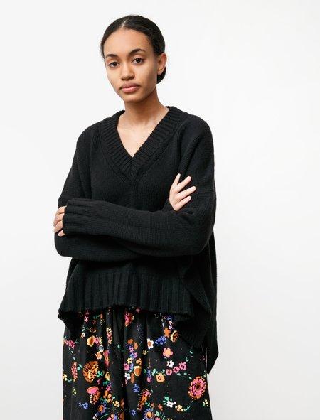 Hache Split Sides Knit sweater - Black