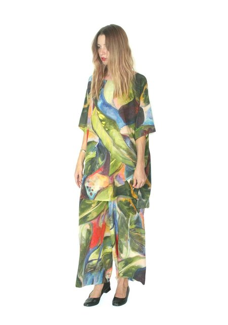 Strathcona Painted Palm Silk Culottes
