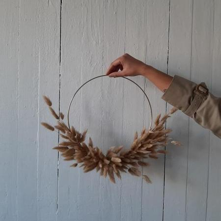"""Rook & Rose 12"""" Bunny Tail Wreath"""