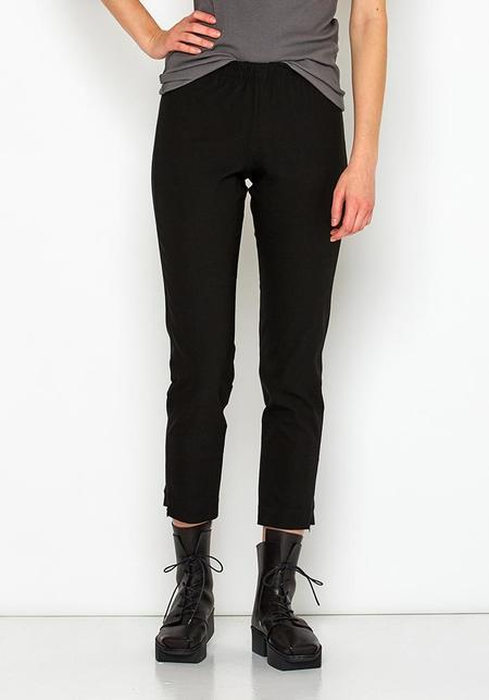 Nuovo Borgo Zipper Detail Cropped Viscose Trouser - Black