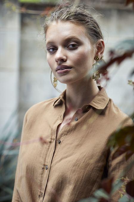 Billie Rose Emery Luxe Shirt - Caramel