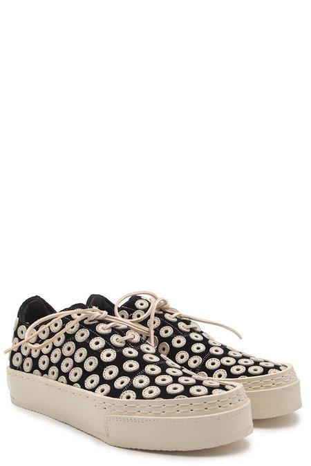 Eric Payne Eyelet Oxford Sneakers - Black/White