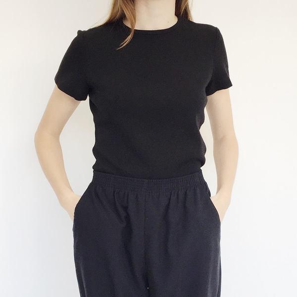 Johan Vintage Black Wool T-shirt