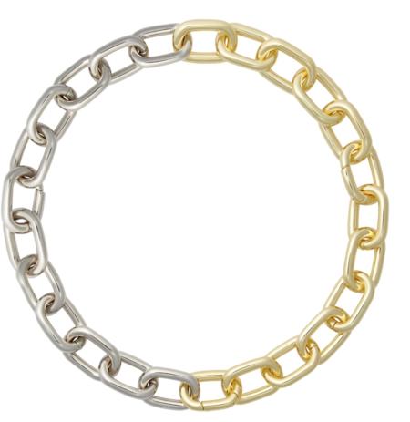 Machete Interchangeable Link Necklace - Gold/Silver SPlit
