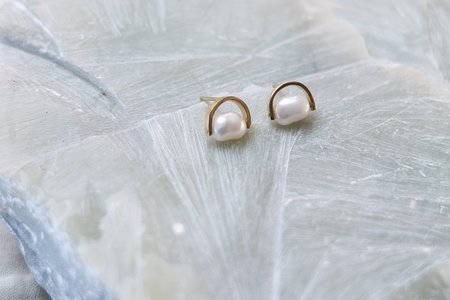 OUND Handcrafted Recycled Gold Earring