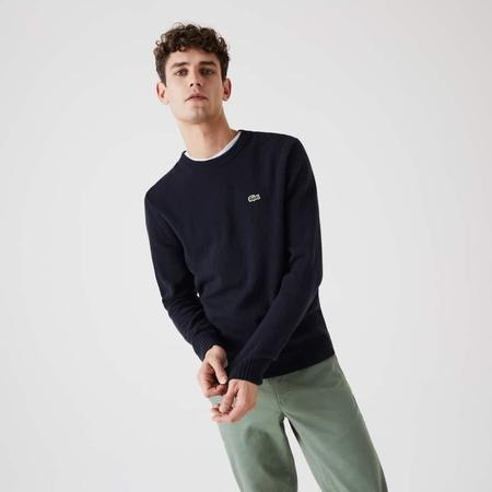Lacoste Wool AH1988 Sweater Pullover - Navy