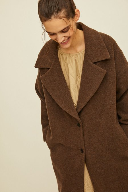 Rita Row Poni Wool Peacoat