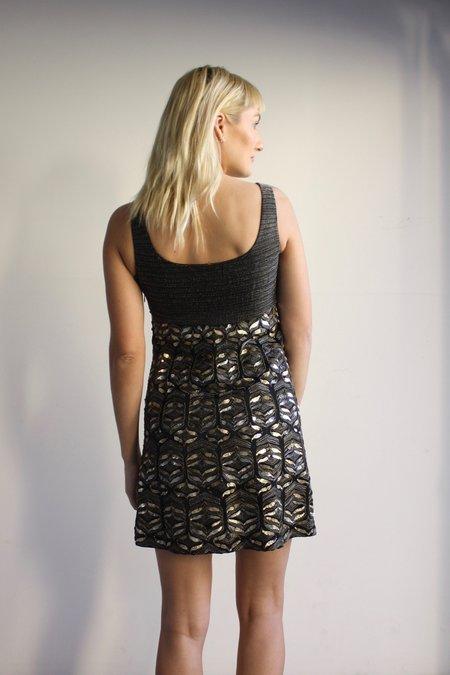 pre-loved Elie Tahari Beaded Mini Dress - black
