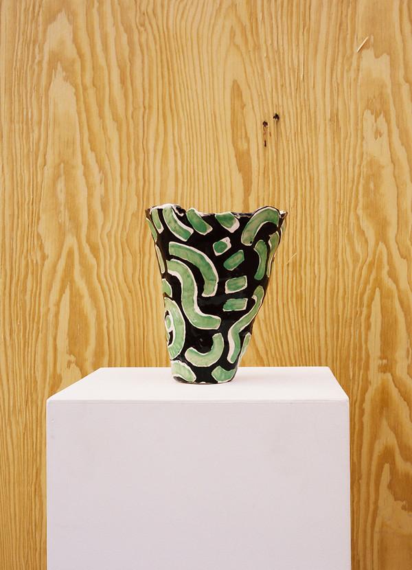 Jessica Hans Lime Squiggle Vase