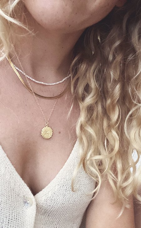 Mercurial NYC Lake Layering Necklace - gold