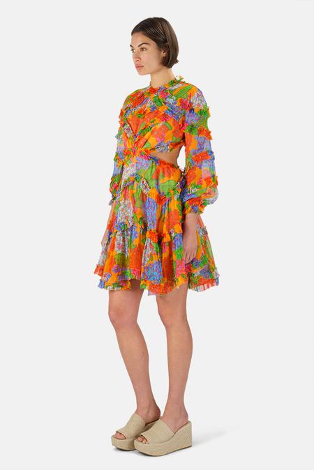 Zimmermann Riders Frill Mini Dress - Mango Floral