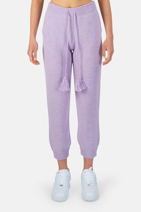 LoveShackFancy Tristan Pants - Purple