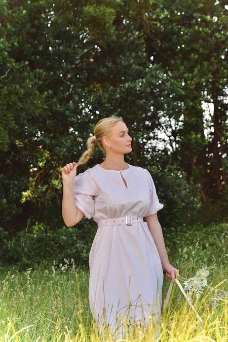 Barebones Puff Sleeve Dress - Candy Floss