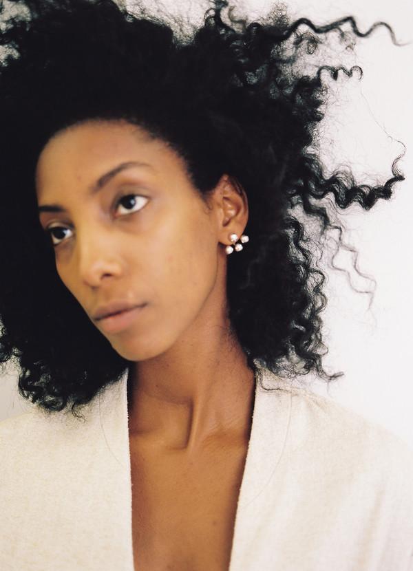 Ruby Star Triple Piercing Earrings