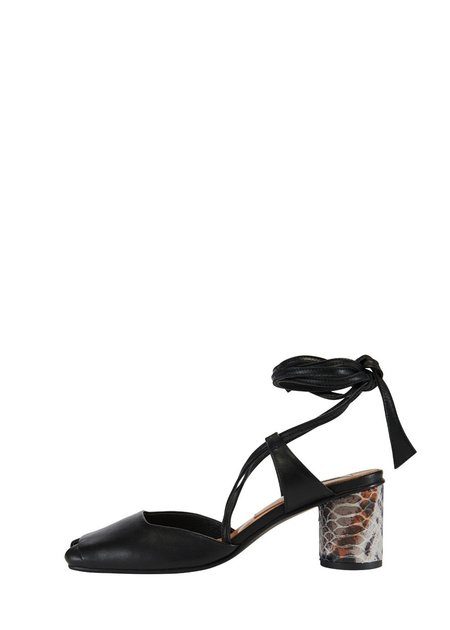 Reike Nen Open Toe Strap Sandals - Black/Python