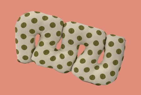Rose Greenberg Grapes Squiggle Pillow - Green