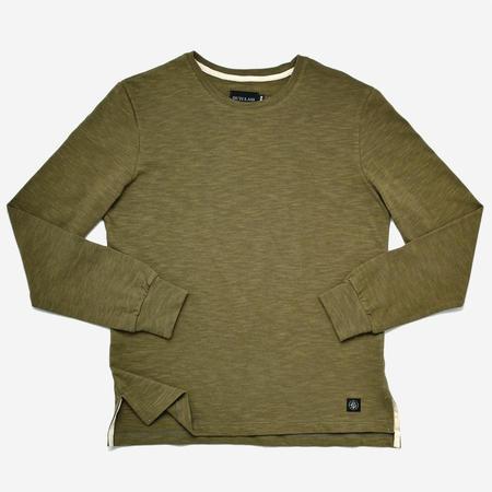 Outclass Slub Long-Sleeve T-Shirt - Olive