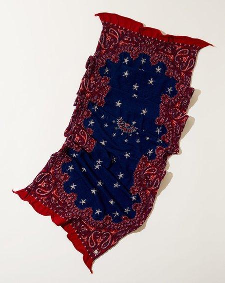 Kapital Cosmic Star Scarf - Red