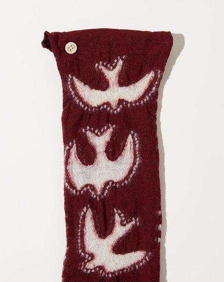 Kapital Thunderbird Necklace Scarf - Burgundy