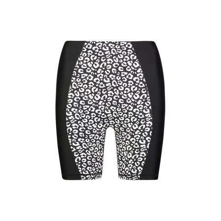 Adam Selman Sport Contour Biker Short - Black Mini Leopard