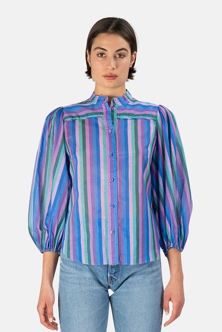 Zimmermann Poppy Stripe Shirt - Lilac