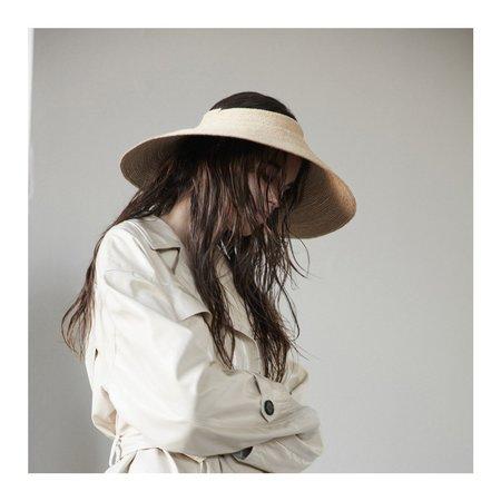 Janessa Leone Nico Packable Visor Hat - natural