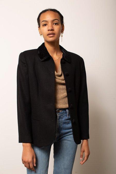 Vintage Wool & Velvet Blazer