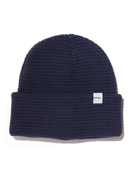 Druthers Organic Cotton Waffle Knit Beanie - Navy