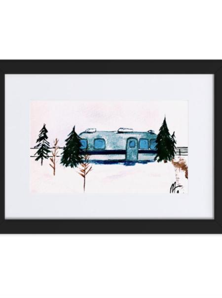Sunday Supply Co. Winter Camper Print Framed