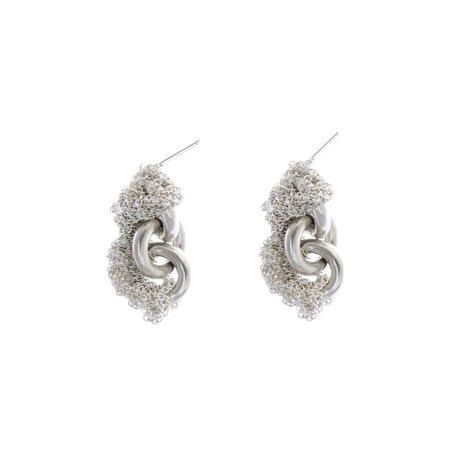Arielle De Pinto Connection Earring - Silver