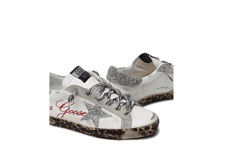 Golden Goose Superstar Leather Upper Swarovksi Crystal Star and Heel Signature Women GWF00101.F000128.80214 sneakers - White