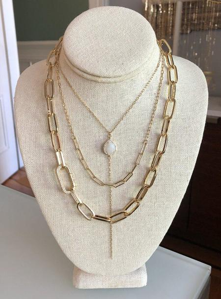 Jennifer Tuton Chunky Chain With Pave Carbiner Clasp