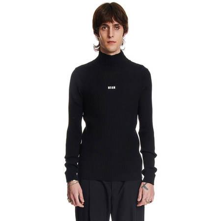 MSGM Men Turtleneck Sweater - Black