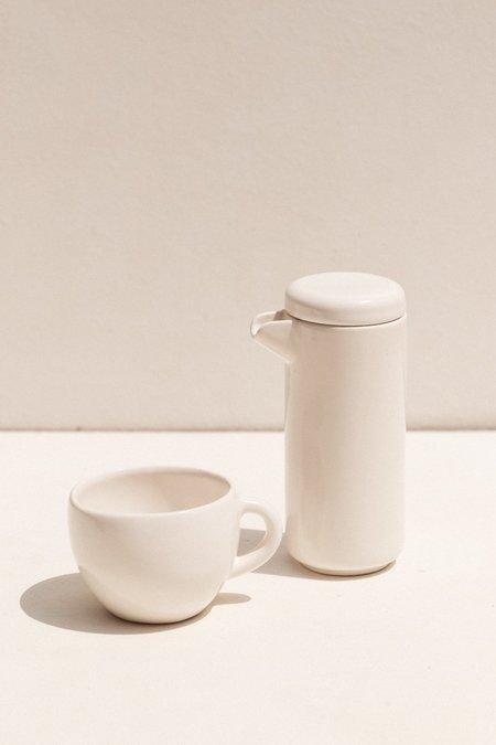 Gidon Bing Small Twin Wall Coffee/Tea Pot - Satin White